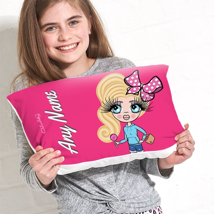 ClaireaBella Girls Placement Cushion - Hot Pink - Image 3