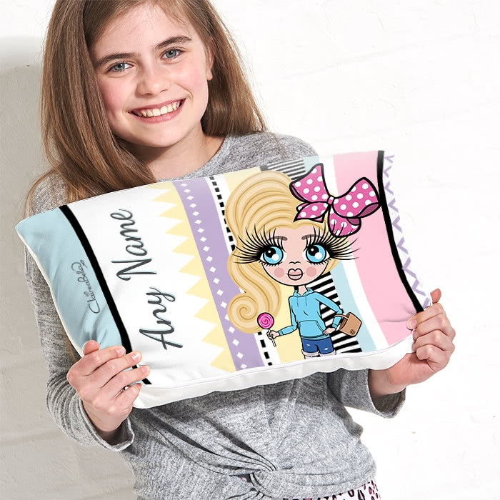 ClaireaBella Girls Placement Cushion - Pastel Pop - Image 1