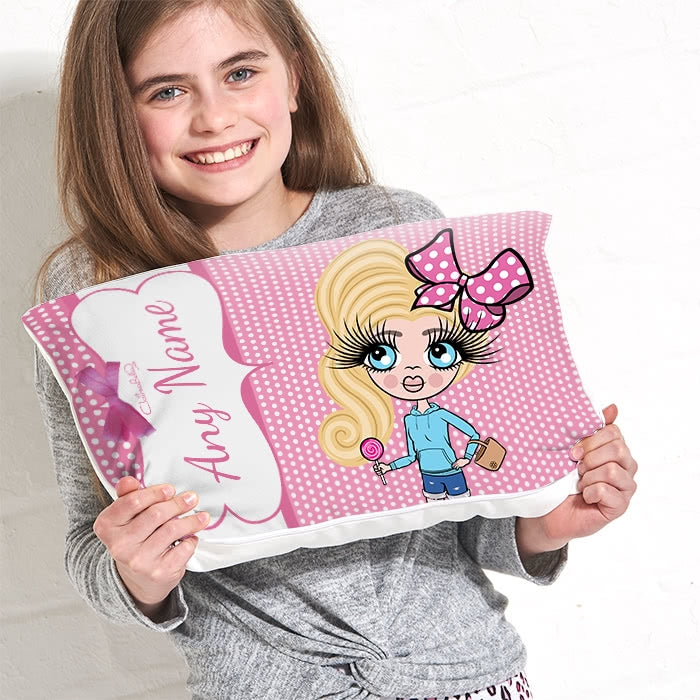 ClaireaBella Girls Placement Cushion - Polka Dot - Image 2