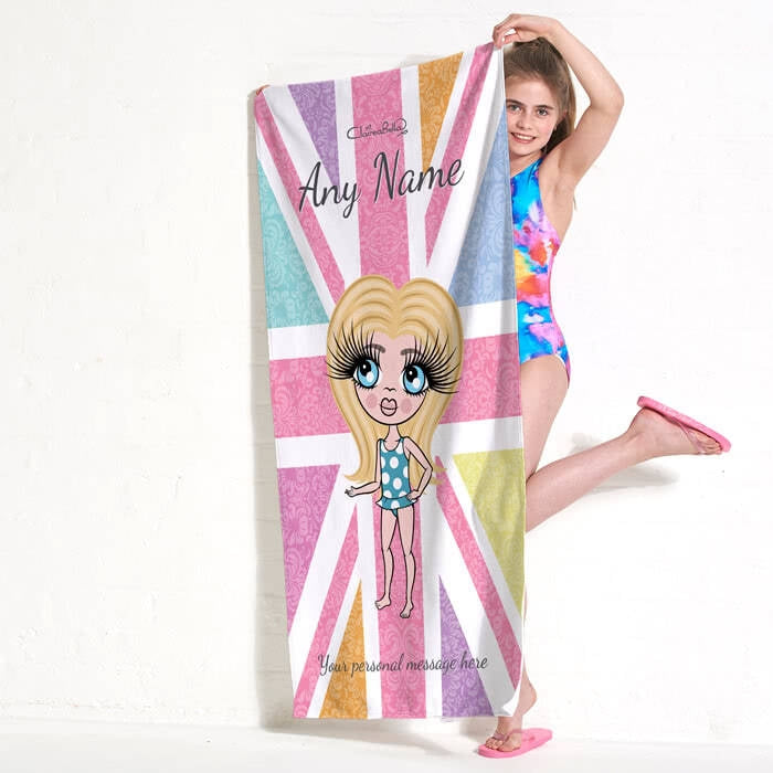 ClaireaBella Girls Union Jack Beach Towel - Image 4