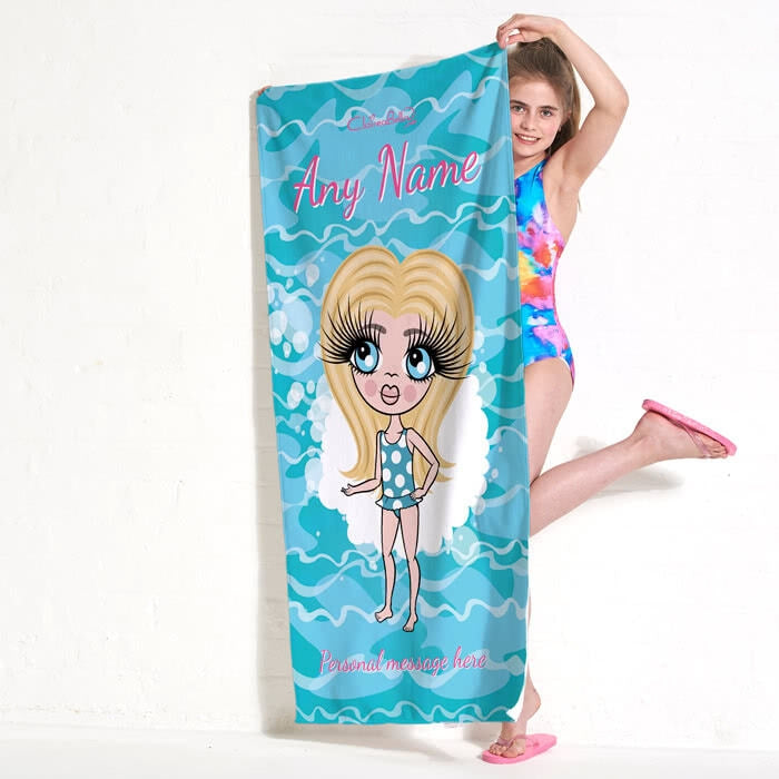 ClaireaBella Girls Pool Beach Towel - Image 4