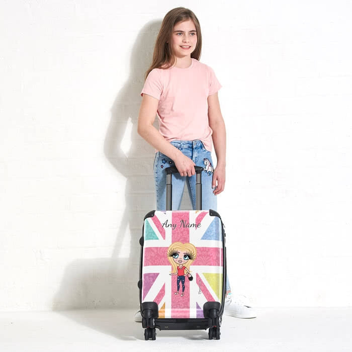 ClaireaBella Girls Union Jack Suitcase - Image 1