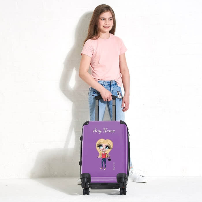 ClaireaBella Girls Purple Suitcase - Image 2