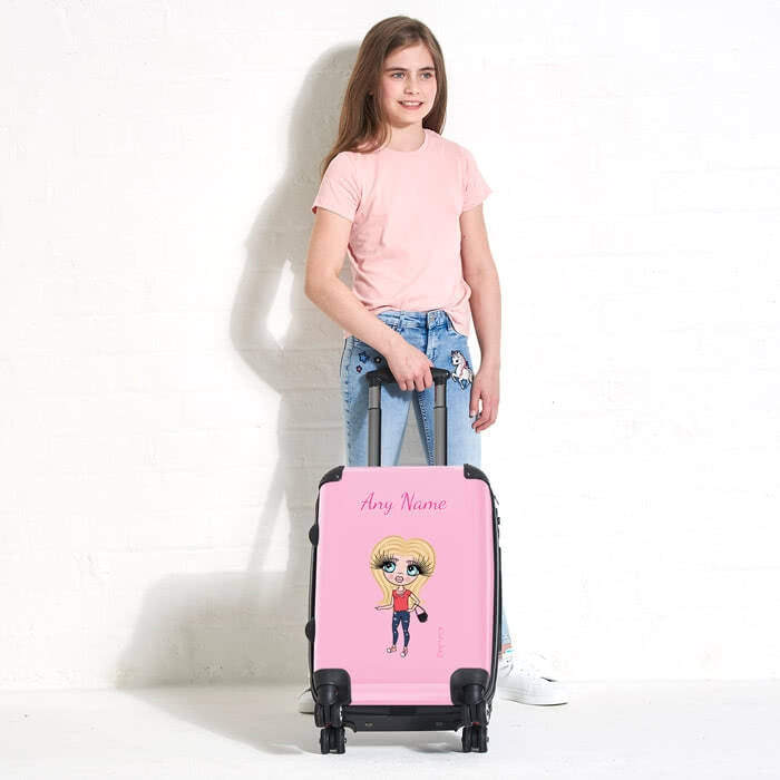 ClaireaBella Girls Pastel Pink Suitcase - Image 1