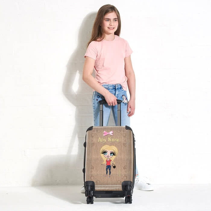 ClaireaBella Girls Jute Print Suitcase - Image 4