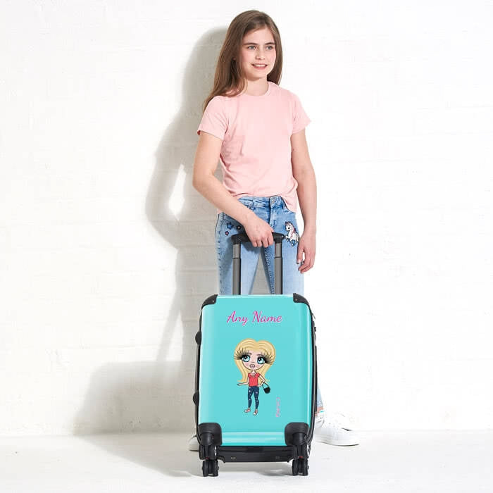 ClaireaBella Girls Turquoise Suitcase - Image 1