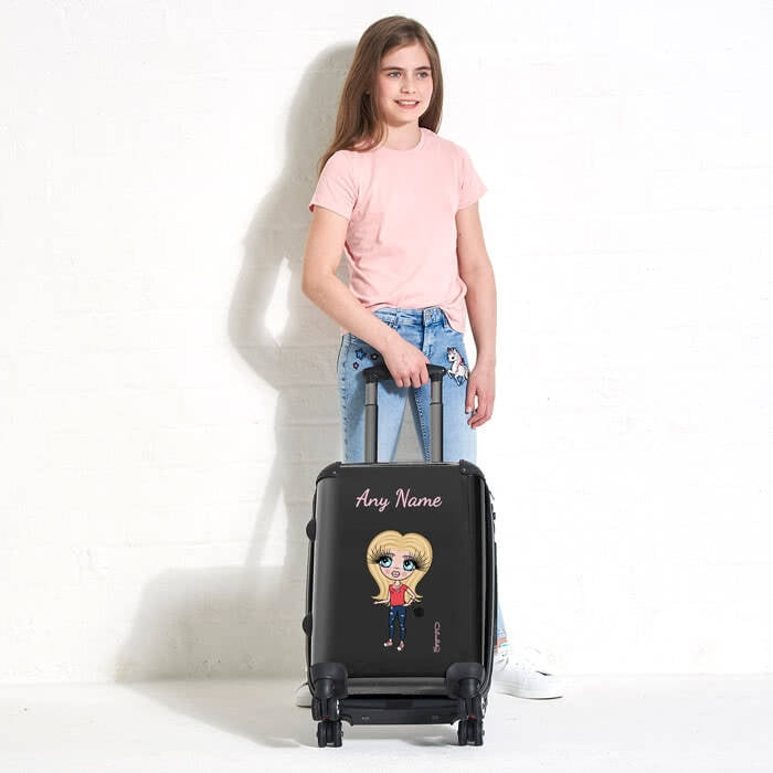 ClaireaBella Girls Black Suitcase - Image 4