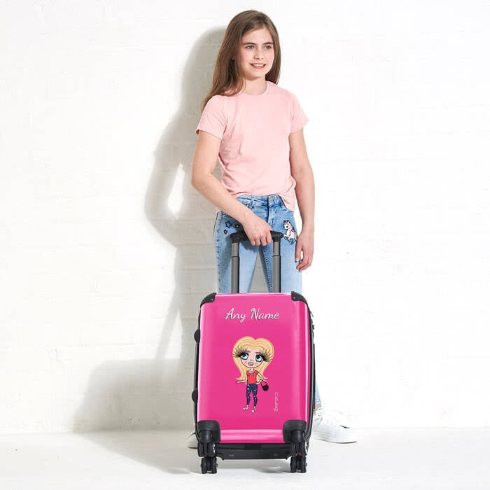 ClaireaBella Girls Hot Pink Suitcase - Image 2