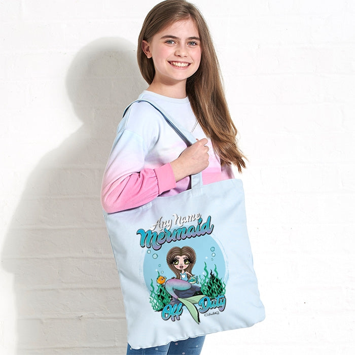 ClaireaBella Girls Mermaid Pastel Canvas Shopper - Image 2