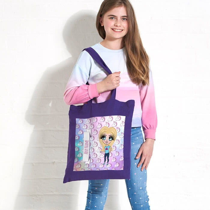 ClaireaBella Girls Unicorn Emoji Colour Pop Canvas Bag - Image 2