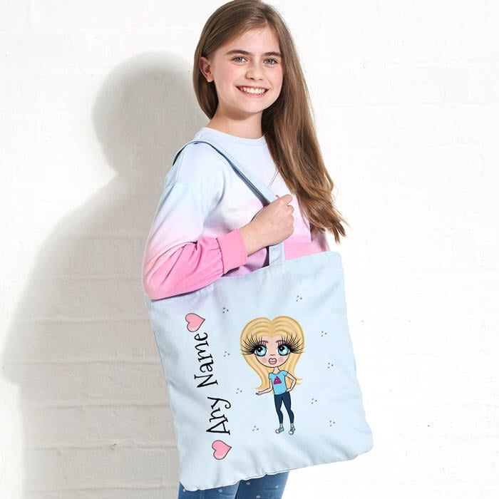 ClaireaBella Girls Pastel Canvas Shopper - Image 3