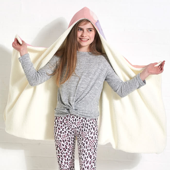 ClaireaBella Girls Marshmallow Hooded Blanket - Image 5