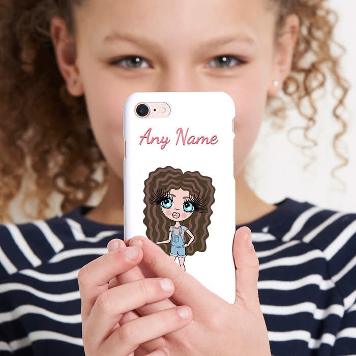 ClaireaBella Girls Personalised White Phone Case - Image 4