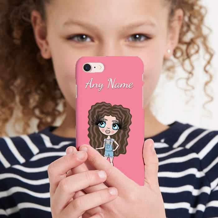 ClaireaBella Girls Personalised Pink Phone Case - Image 1