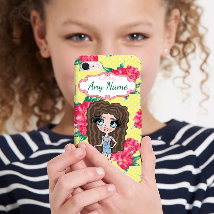 ClaireaBella Girls Personalised Lemon Floral Phone Case - Image 5