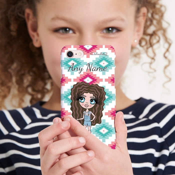 ClaireaBella Girls Personalised Aztec Geo Phone Case - Image 5