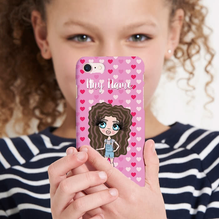 ClaireaBella Girls Personalised Hearts Phone Case - Image 4
