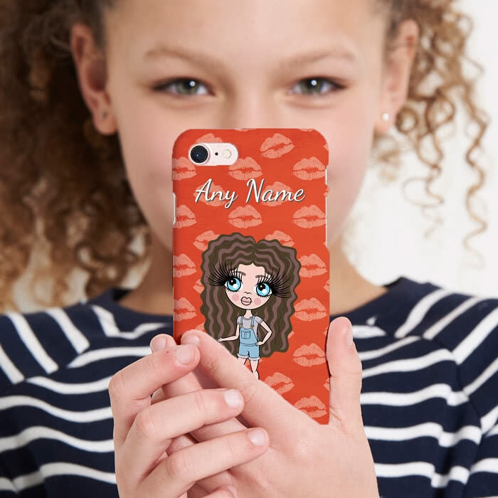 ClaireaBella Girls Personalised Lip Print Phone Case - Image 1