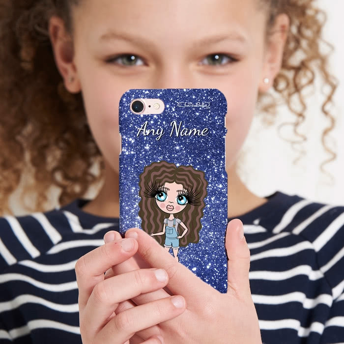 ClaireaBella Girls Personalised Glitter Effect Phone Case - Image 2