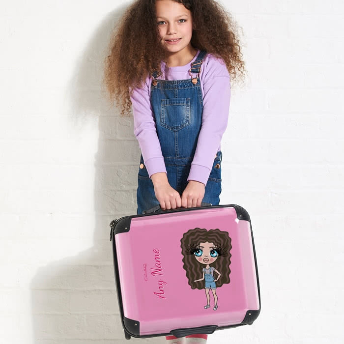 ClaireaBella Girls Pastel Pink Weekend Suitcase - Image 4