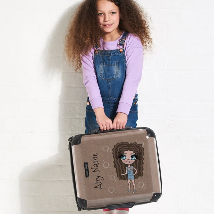 ClaireaBella Girls Jute Print Weekend Suitcase - Image 4