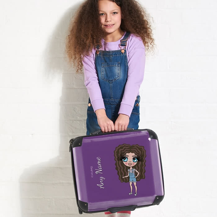 ClaireaBella Girls Purple Weekend Suitcase - Image 4