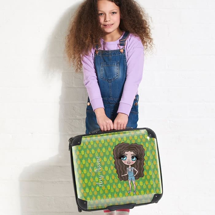 ClaireaBella Girls Pineapple Print Weekend Suitcase - Image 4