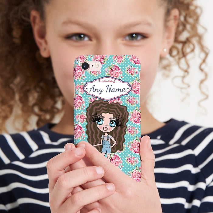 ClaireaBella Girls Personalised Rose Phone Case - Image 3