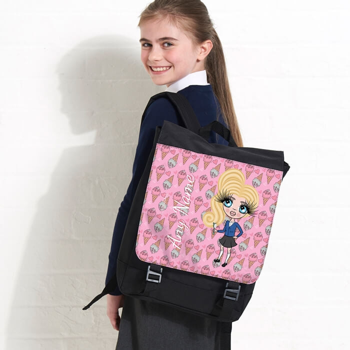 7ff216191e2f18 ClaireaBella Girls Ice Cream Large Backpack – Toxic Fox
