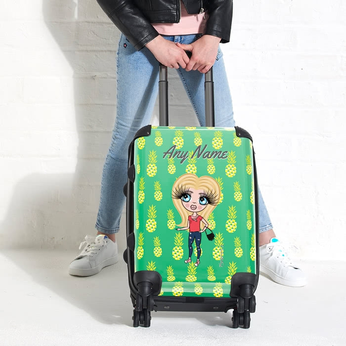 ClaireaBella Girls Pineapple Print Suitcase - Image 6