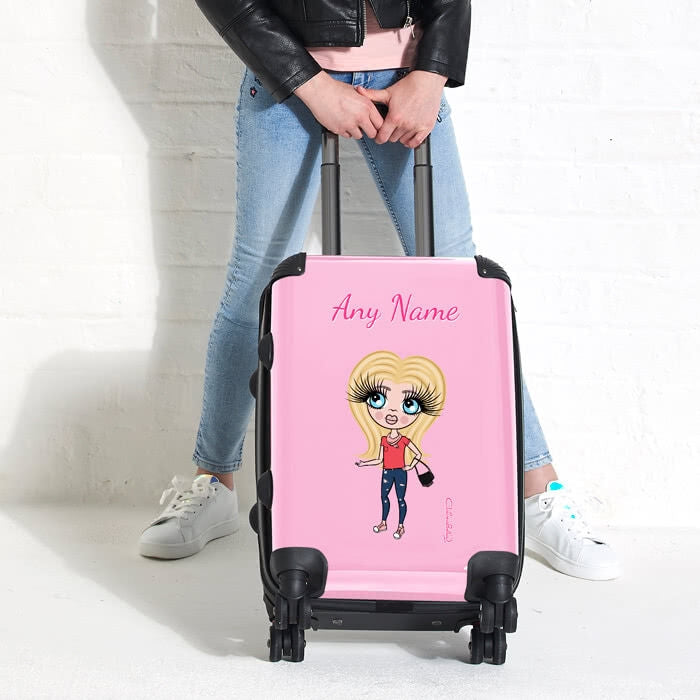 ClaireaBella Girls Pastel Pink Suitcase - Image 3
