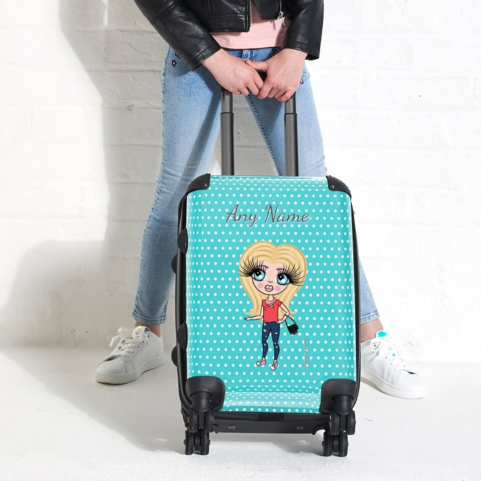 ClaireaBella Girls Polka Dot Suitcase - Image 4