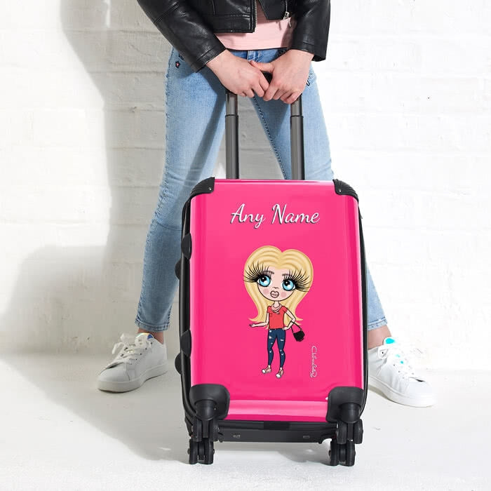 ClaireaBella Girls Hot Pink Suitcase - Image 6
