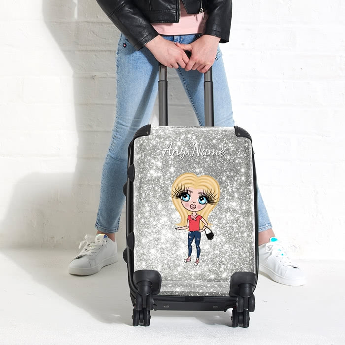 ClaireaBella Girls Glitter Effect Suitcase - Image 7