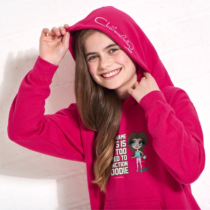 ClaireaBella Girls Too Tired Hoodie - Image 5