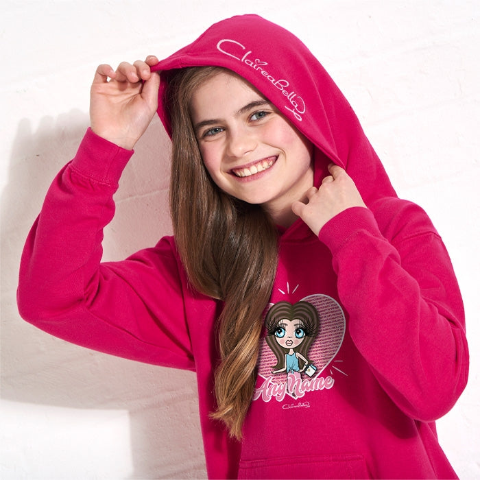 ClaireaBella Girls Heart Hoodie - Image 4
