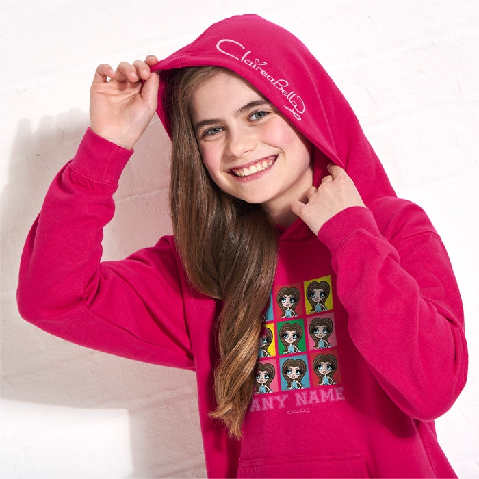 ClaireaBella Girls Colour Collage Hoodie - Image 3