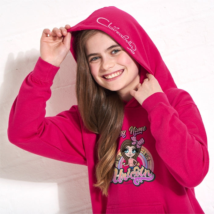 ClaireaBella Girls Unicorn Wish Hoodie - Image 3