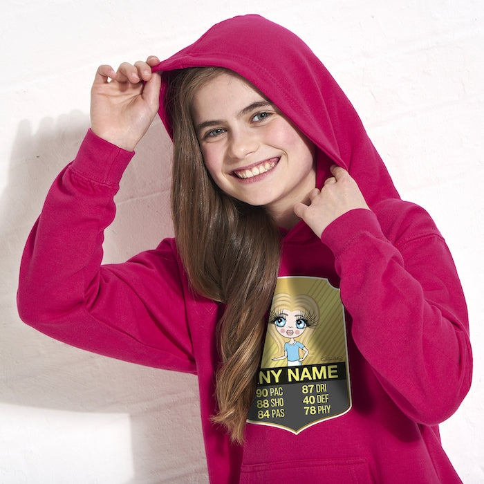 ClaireaBella Girls Football Hoodie - Image 5