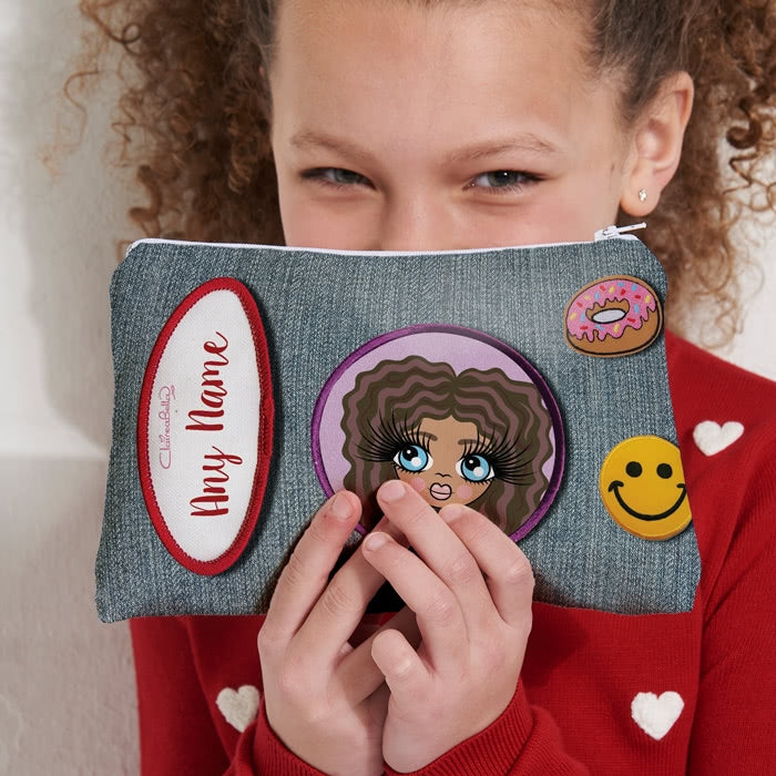 ClaireaBella Girls Denim Effect Make Up Bag - Image 5