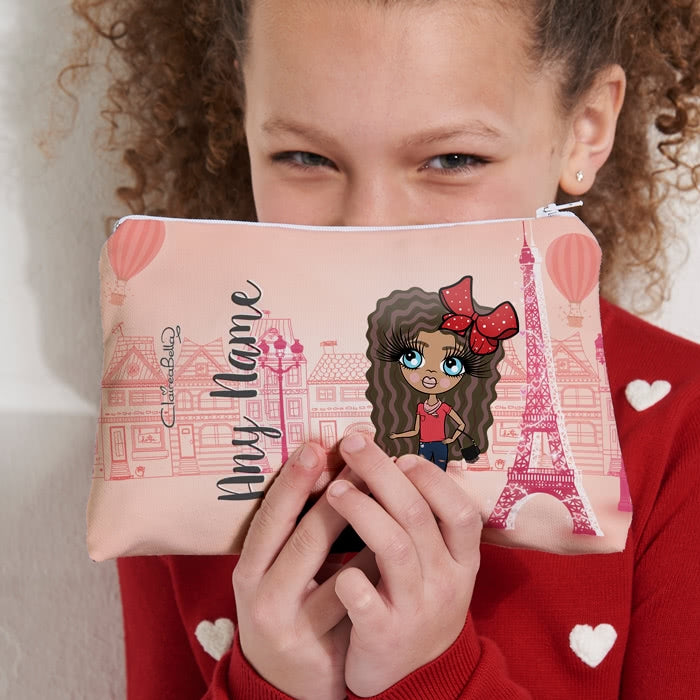 ClaireaBella Girls Parisian Pink Make Up Bag - Image 2