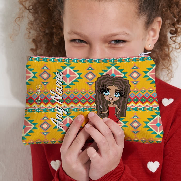 ClaireaBella Girls Aztec Geo Make Up Bag - Image 7