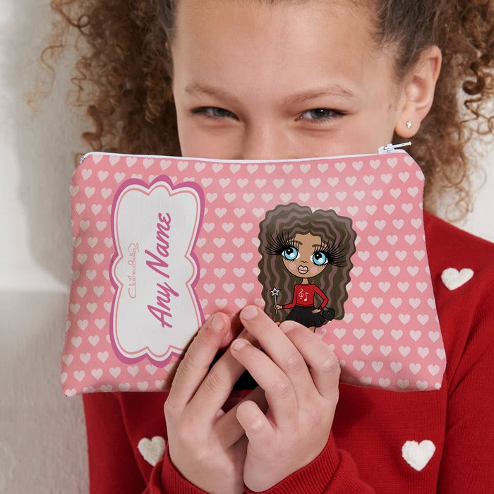 ClaireaBella Girls Heart Print Make Up Bag - Image 1