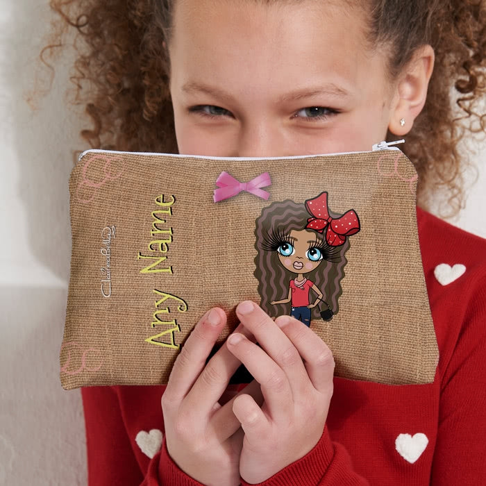 ClaireaBella Girls Jute Print Make Up Bag - Image 5