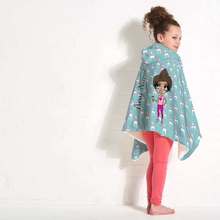 ClaireaBella Girls Unicorns Hooded Blanket - Image 7