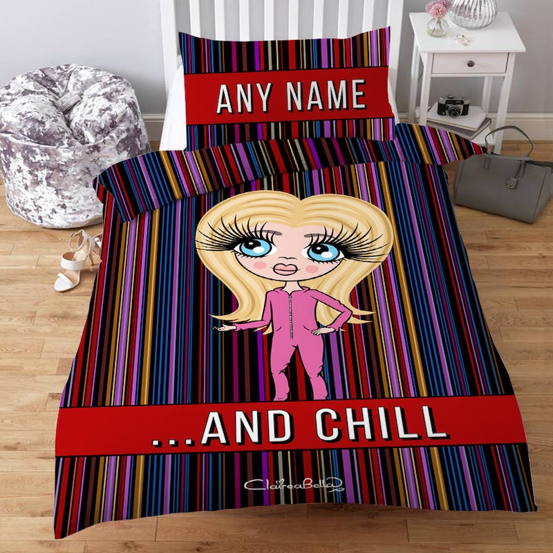 ClaireaBella Girls Personalised...And Chill Bedding - Image 1