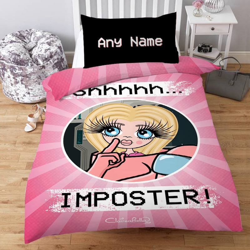 ClaireaBella Girls Personalised Imposter Bedding - Image 1