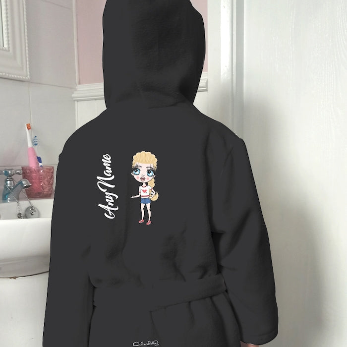ClaireaBella Girls Black Dressing Gown - Image 1
