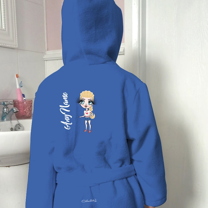 ClaireaBella Girls Blue Dressing Gown - Image 1