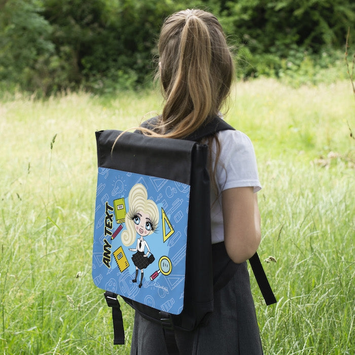 ClaireaBella Girls Blue Print Backpack - Image 4